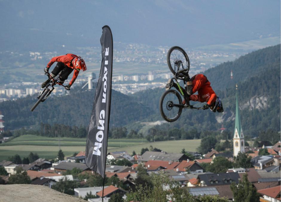 """Von 12. bis 16. Juni findet im """"Bikepark Innsbruck"""" wieder das Mountainbike-Event Crankworx statt."""