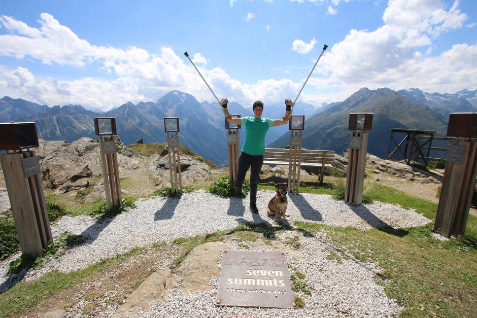Jacqueline Fritz hat trotz Beinamputation die so genannten Stubaier Seven Summits bestiegen.