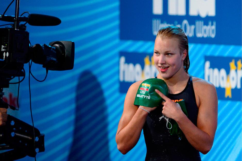 Schwimmerin Ruta Meilutyte hat seit vergangenem Dezember keine Bewerbe mehr bestritten.
