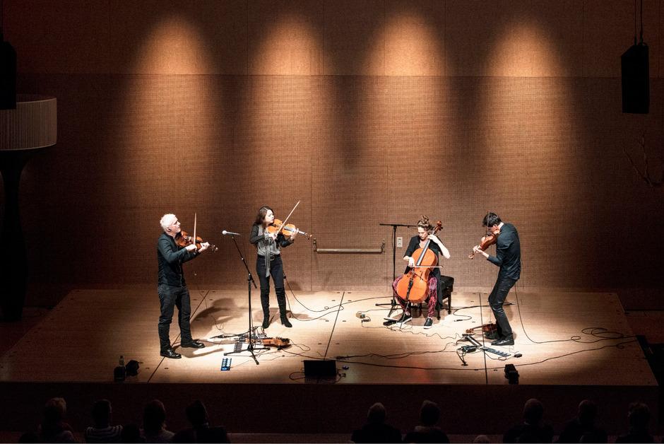 """Da sitzt jeder Ton: Das Radio.string.quartet.vienna eröffnete am Mittwoch die Veranstaltungsreihe """"Ton in Ton"""" in der Tonhalle der BTV."""