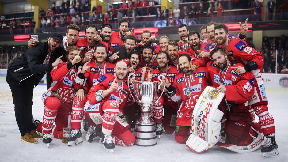 Der KAC krönte sich in der Saison 2018/19 zum Meister.