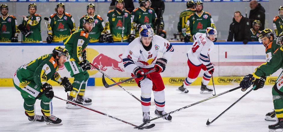 Derzeit spielt der EHC Lustenau (grüne Trikots) in der Alps Hockey League.