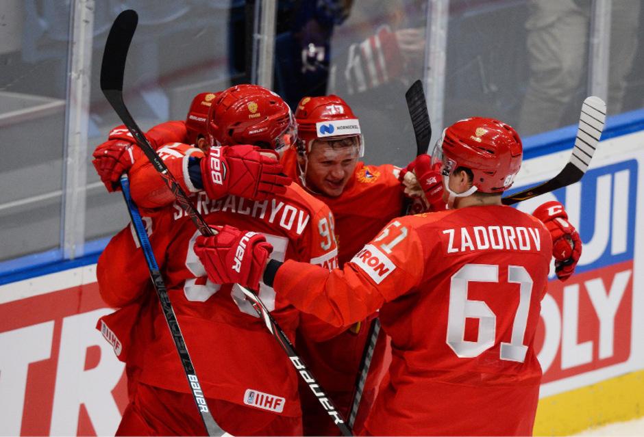 Jubel beim russischen Team.