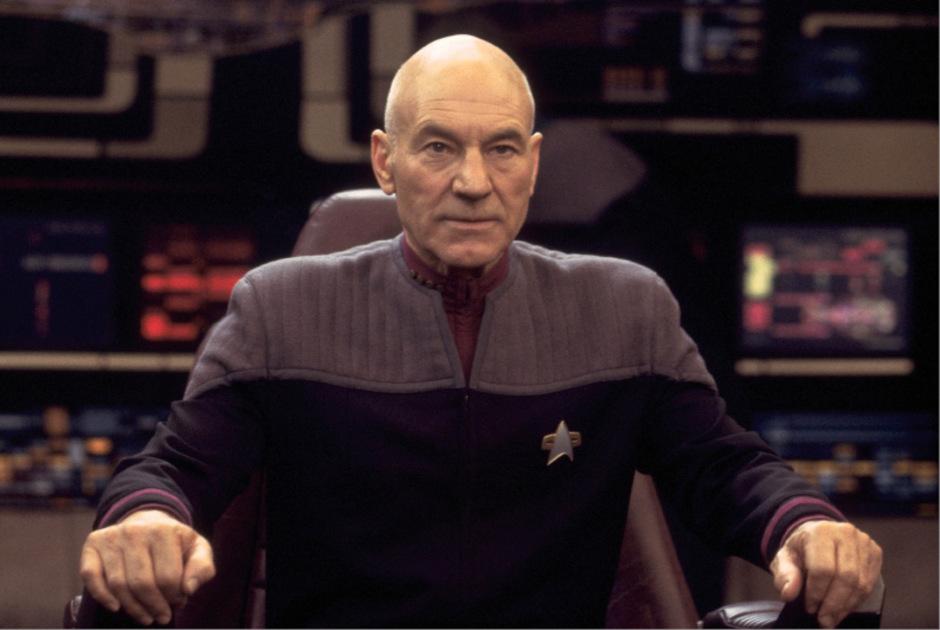 Er ist zurück: Patrick Steward als Captain Jean-Luc Picard.