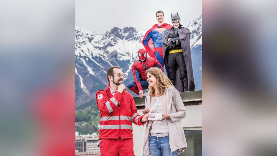 Das Rote Kreuz sucht kommende Woche Spender-Helden.