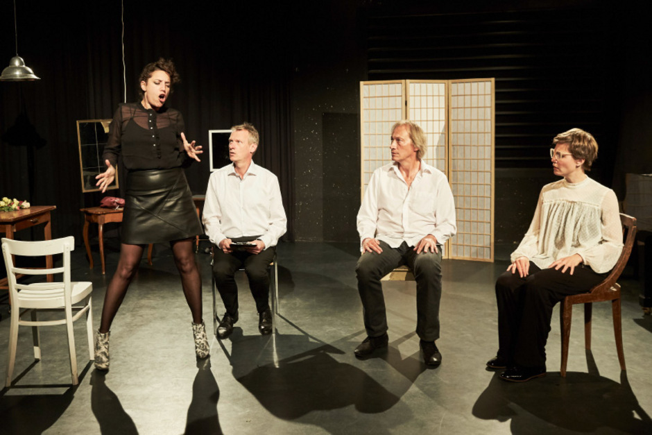 Gutmenschen unter sich: Katharina Pizzera, Volker Wahl, Stephan Lewetz und Sophie Hichert (von links).