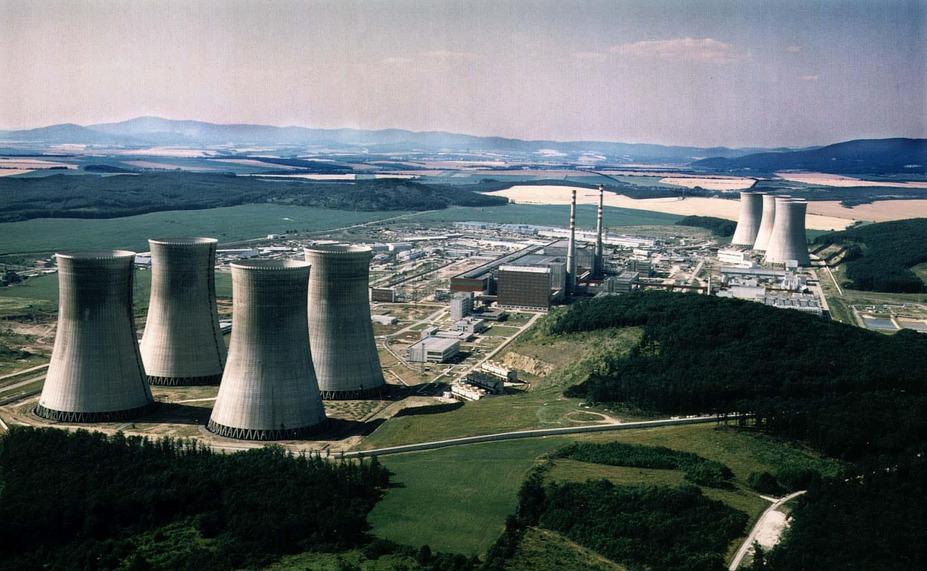 Luftbildaufnahme des Atomkraftwerkes Mochovce in der Slowakei (Archivaufnahme).