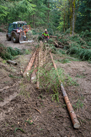 Seit zwei Monaten ist Hannes Millinger damit beschäftigt, die Schäden des Winters zu verräumen.