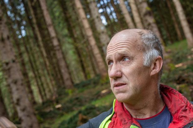 """""""Wenn der Baum über dir ist, dann ist das ein ungutes Gefühl. Da geht der Herzschlag höher"""", so Hannes Millinger, St.Johann."""