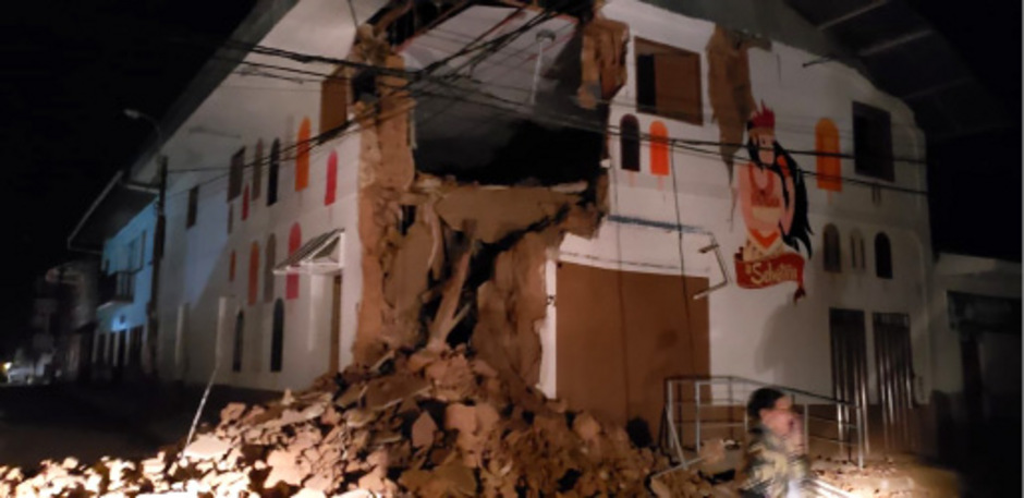 Häuser wurden bei dem schweren Erdbeben zerstört.