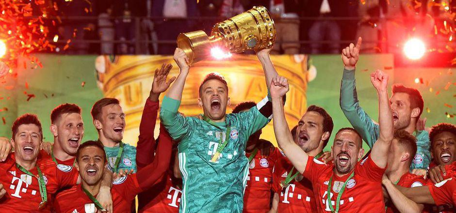 Die Bayern jubelten über den zwölften Double-Gewinn der Vereinsgeschichte.