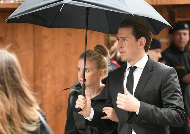 Ex-Kanzler und ÖVP-Obmann Sebastian Kurz mit Freundin Susanne.