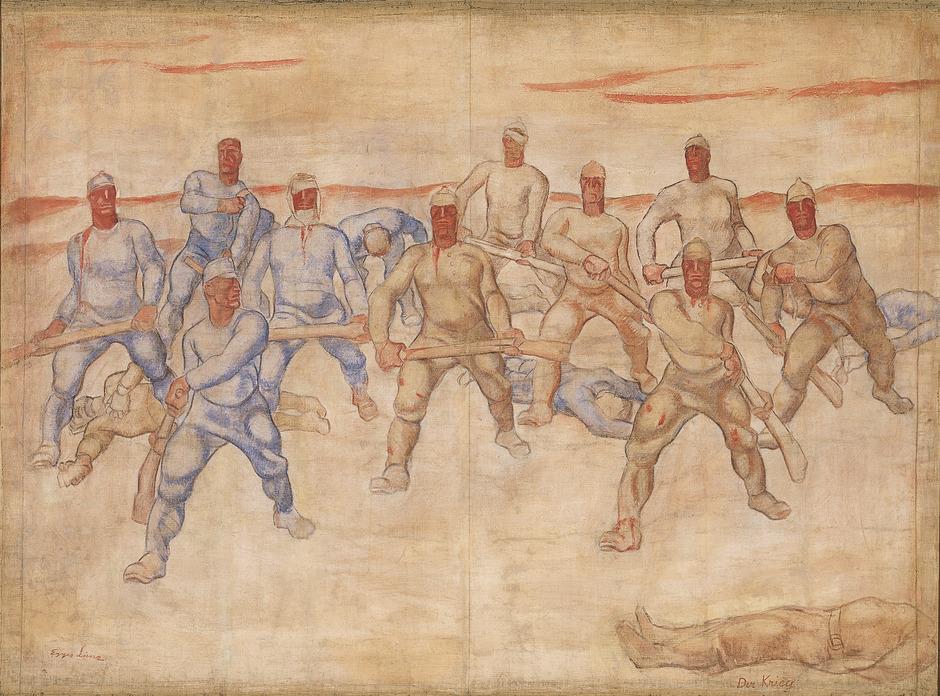 Albin Egger-Lienz, Der Krieg, 1915/1916, 172 x 232 cm, Tempera auf Leinwand, Museum der Stadt Lienz - Schloss Bruck.