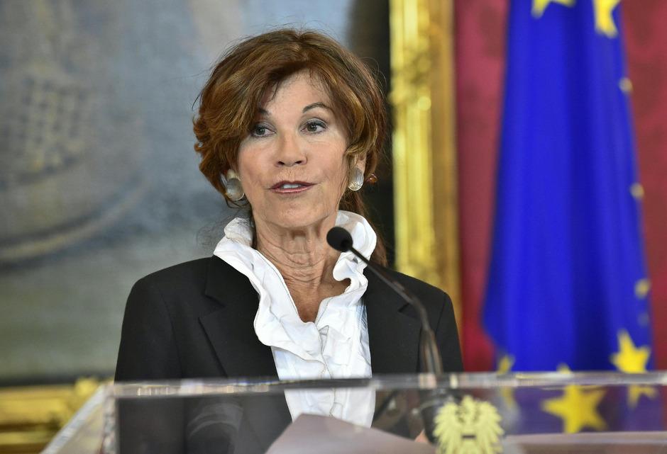 Die neue designierte Kanzlerin Österreichs Brigitte Bierlein.