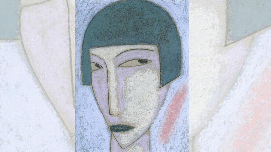 """Ernst Reyer: """"Frauenkopf mit Pagenschnitt"""", 2014."""