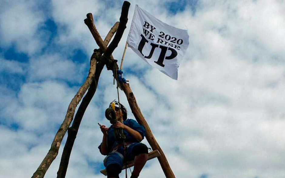 Die Aktivisten forderten einen radikalen Wandel des Mobilitätssystems.