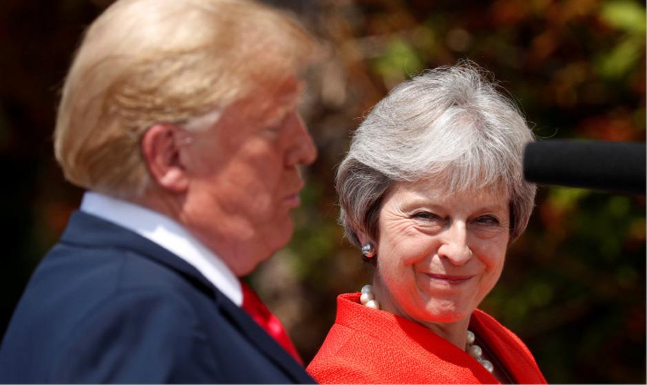 Theresa May und Donald Trump bei einer gemeinsamen Pressekonferenz.