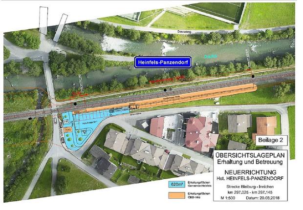 Im Bereich dieser Eisenbahnkreuzung an der Drau entsteht die Haltestelle Heinfels-Panzendorf.