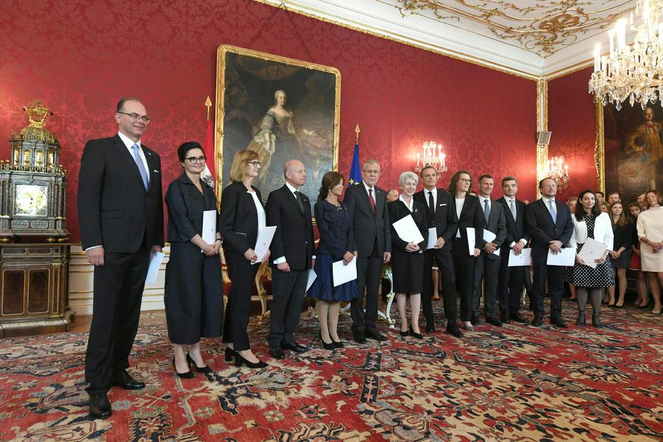 Das Kabinett Bierlein wurde am Montag angelobt.