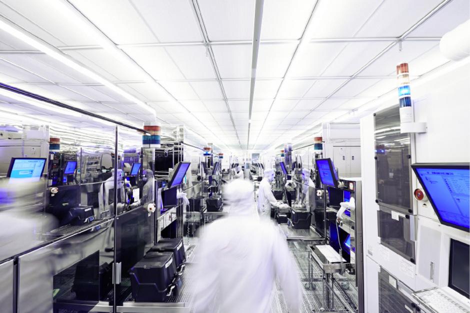 Reinraum bei Infineon in Villach