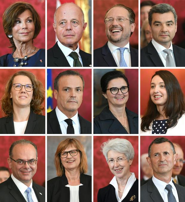 Das Kabinett Bierlein.