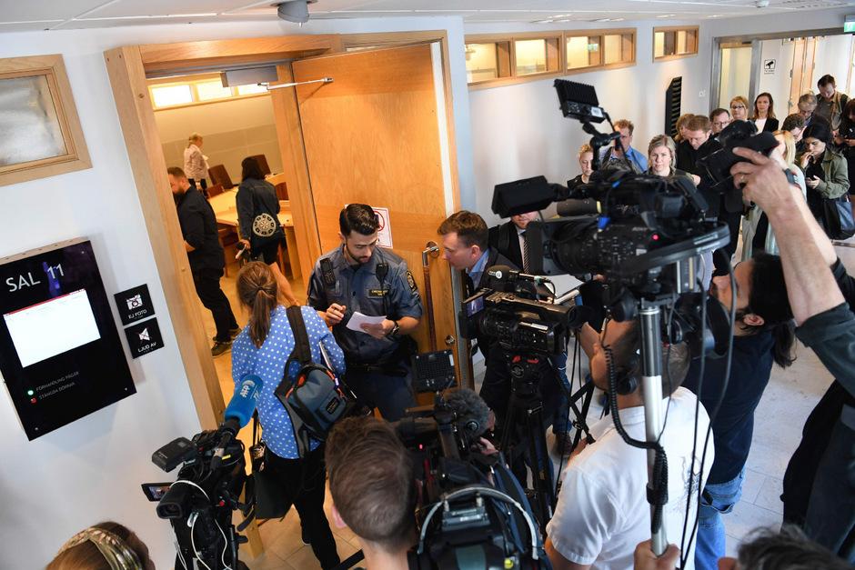 Am Bezirksgericht in Uppsala herrschte am Montag reges Treiben.