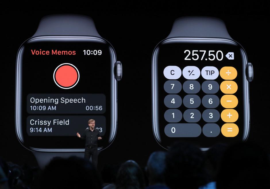 Die Computer-Uhr Apple Watch wird unabhängiger vom iPhone, wie Kevin Lynch bei der 2019 Apple Worldwide Developer Conference (WWDC) erklärt.