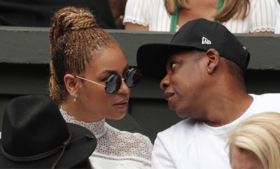 Jay-Z mit seiner Ehefrau Beyoncé.