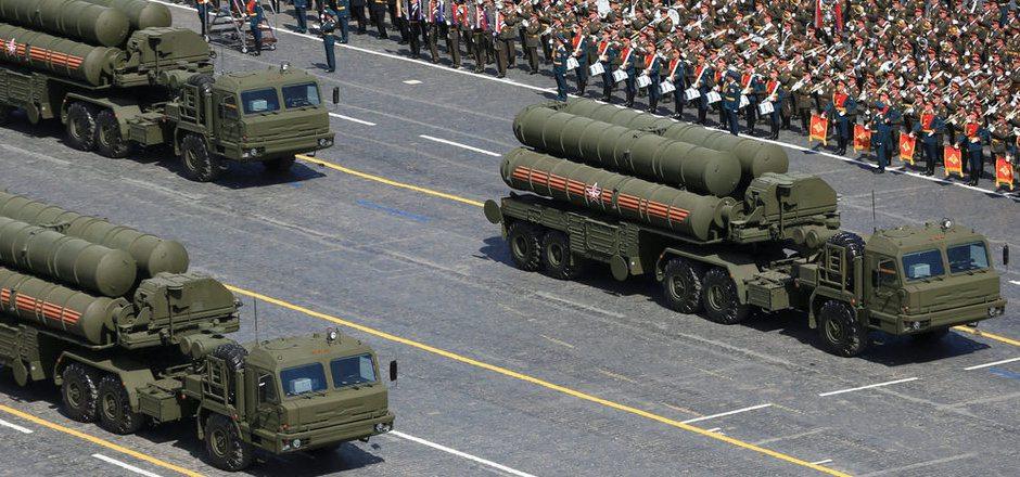 S-400-Systeme bei einer Militärparade in Moskau. (Archivbild)