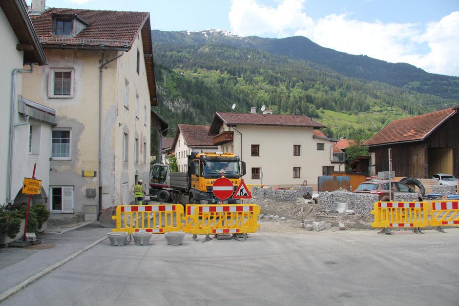 Die Bauarbeiten im Prutzer Ortszentrum sind in vollem Gange.