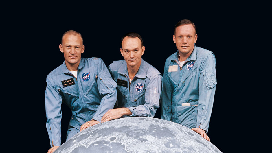 Von links: Buzz Aldrin, Michael Collins und Mondmission-Kommandant Neil Armstrong.