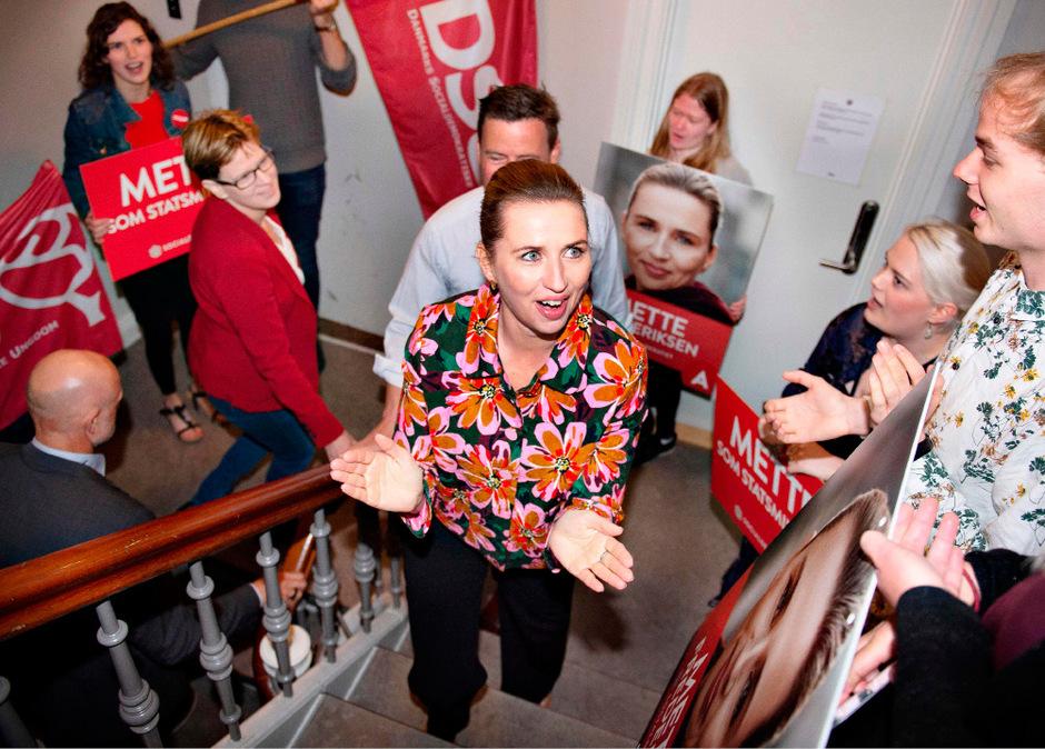 Als wahrscheinlichstes Szenario gilt eine von den Sozialdemokraten um Parteichefin Mette Frederiksen (Bild) angeführte und von kleineren Linksparteien gestützte Minderheitsregierung.