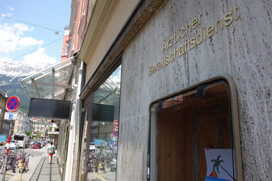 Notfallordination ab nun im Herzen von Innsbruck