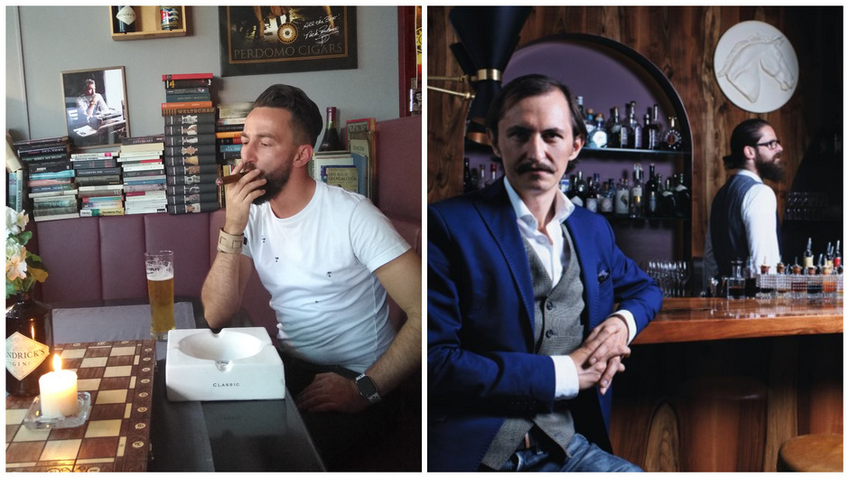 Bozidar Trisic (li.) sieht ein Problem für Zigarrenraucher. Erlkönig-Chef Matthias Eder (re.) bleibt gelassen. In der Gastronomie werden die Tschick bald ausgetötet.