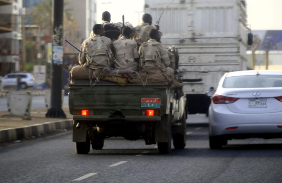 Sudanesische Sicherheitskräfte in Khartum.