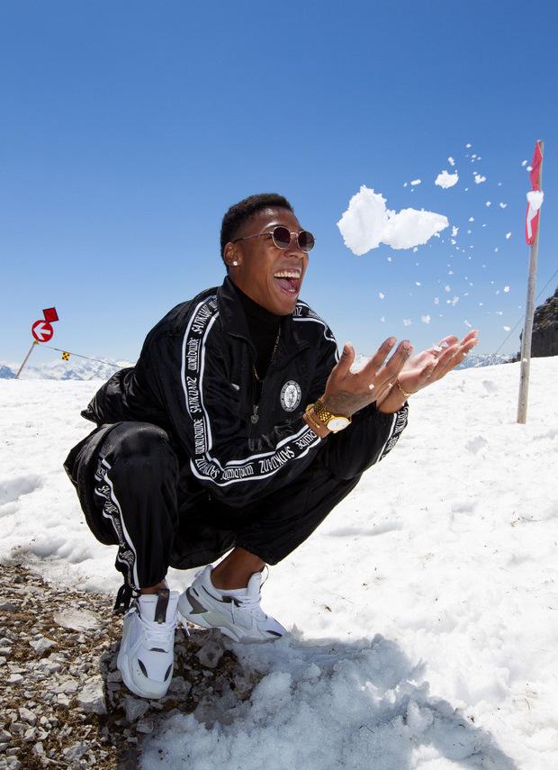 Den Sprung in die Schneegrube verweigerte der Kubaner dann jedoch.