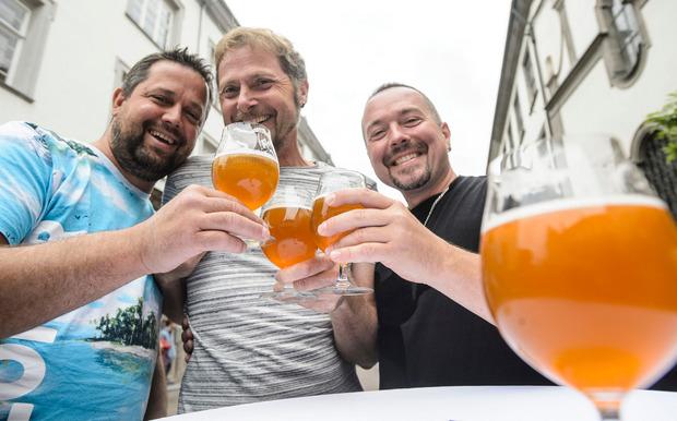 Viele Besucher informierten sich über die Bierbraukunst.