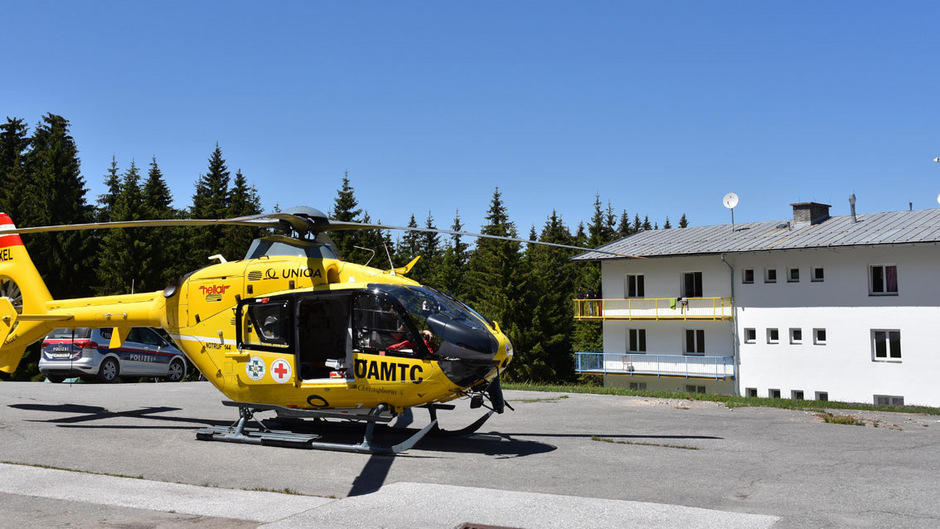Auch ein Rettungshubschrauber war am Freitag im Einsatz.