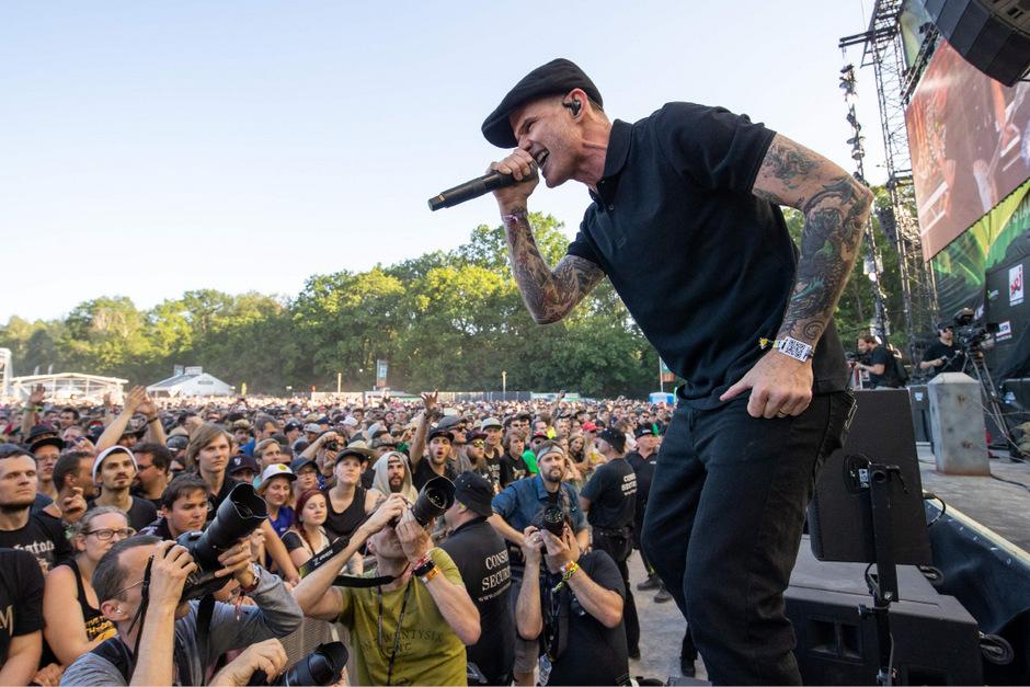 Sänger Al Barr von den Dropkick Murphys bei Rock im Park am Freitag.