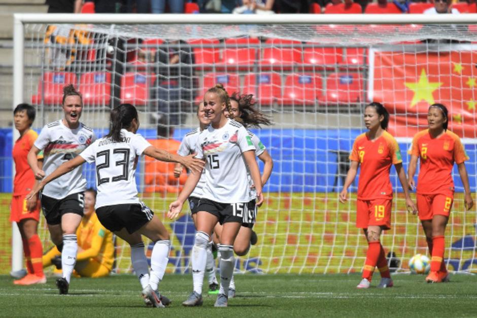 Die 19-jährige Giulia Gwinn schoss Deutschland gegen China zum 1:0-Sieg.