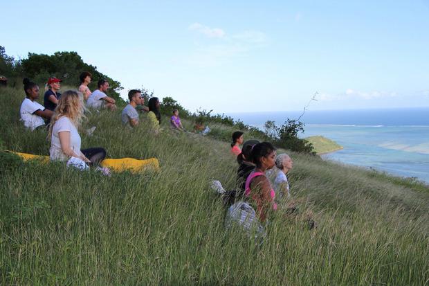 Der Le Morne Brabant hoch über dem Ozean (556m): Oben wird meditiert ...