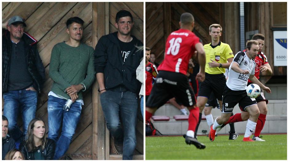 Vor den Augen von ÖFB-Teamspieler Alessandro Schöpf nebst Anhang lieferten die Haller Löwen (rot) gegen Zams ihr Meisterstück ab.
