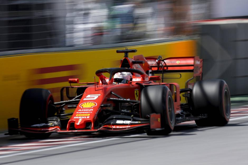 Geht doch: Sebastian Vettel im Ferrari.