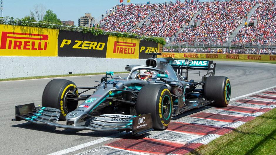 Hamilton auf dem Weg zum Sieg.