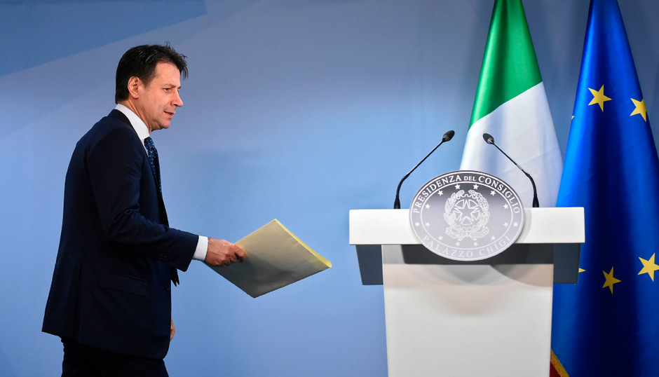 Der italienischer Premier Giuseppe Conte.