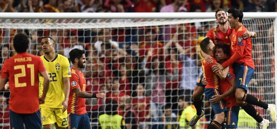 Spanien hatte gegen Schweden gleich drei Mal Grund zum Jubeln.