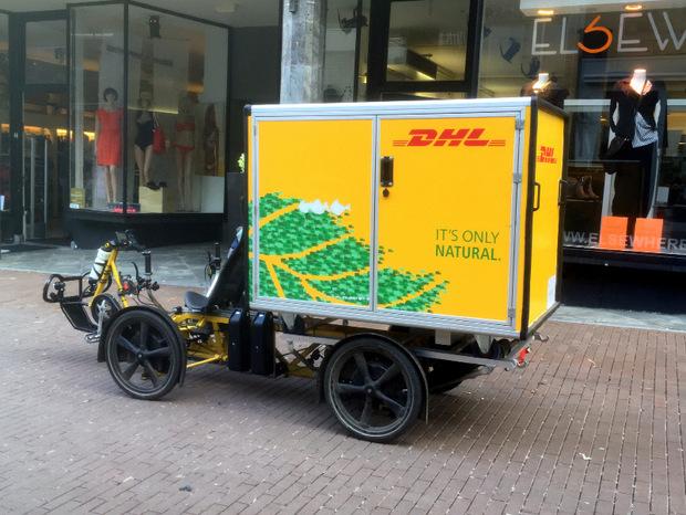 Das Cubicycle von einem Paketdienst ist seit Mai in Innsbruck unterwegs und soll Lieferautos in der Stadt ersetzen.