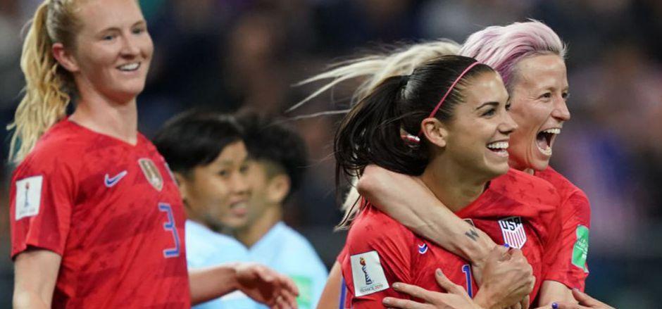 Alex Morgan egalisierte mit fünf Treffern den WM-Rekord ihrer Landsfrau Michelle Akers.
