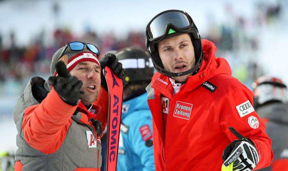 Der WM-Zweite Michael Matt, hier mit Coach Marko Pfeifer, will künftig im Ski-Weltcup mehrgleisig unterwegs sein.