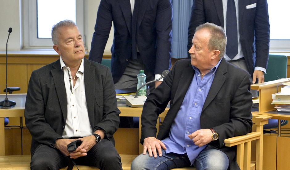 Ex-Generalsekretär Thomas Gangel (l.) und Ex-Finanzreferent Walter Benesch.